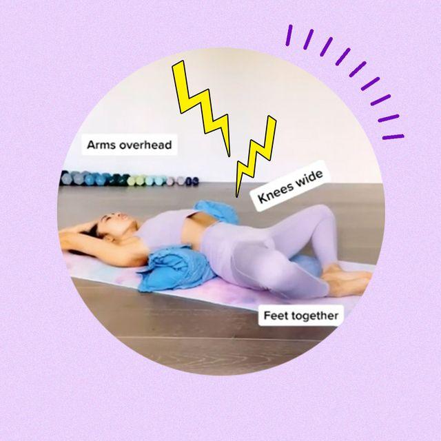 posturas y estiramientos para los dolores menstruales