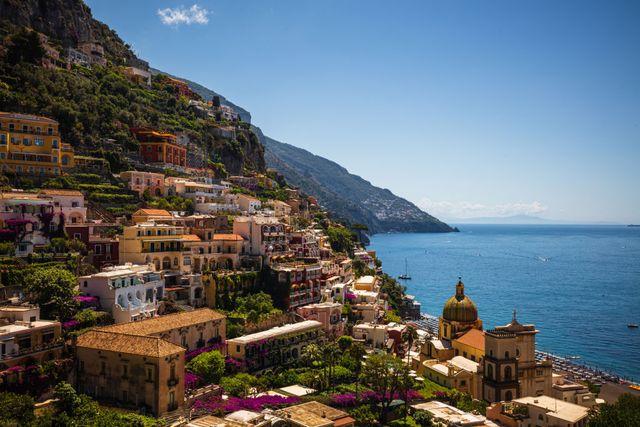 positano, amalfi coast, unesco, world heritage site, campania, italy, europe