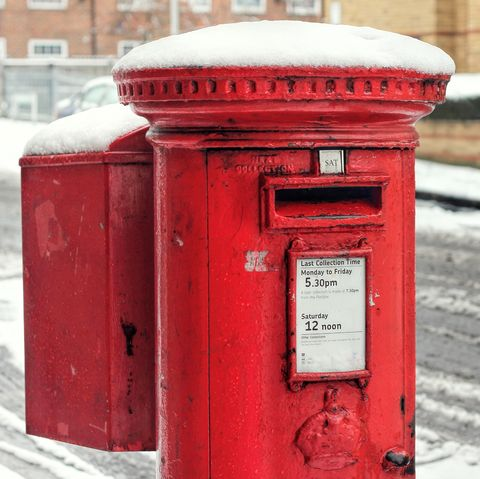 Post Box Snow. Royal Mail Winter