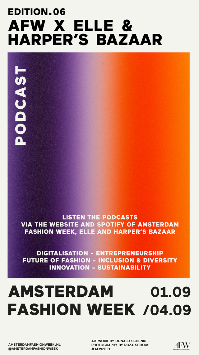 amsterdam fashion week afw podcast serie the hub elle anke de jong
