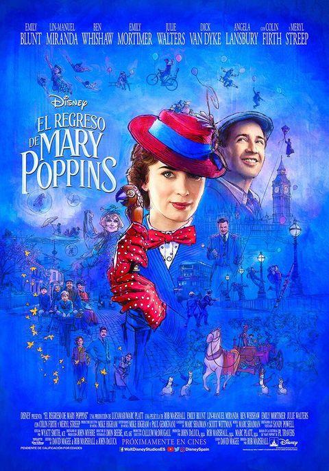 Resultado de imagen de el regreso de mary poppins poster