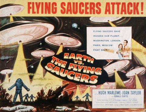"Poster of ""Flying Saucers Attack! Earth vs. the Flying Saucers"""