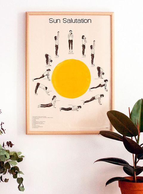 poster saludo al sol yoga