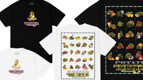 t shirts from the imran potato x runtz collection