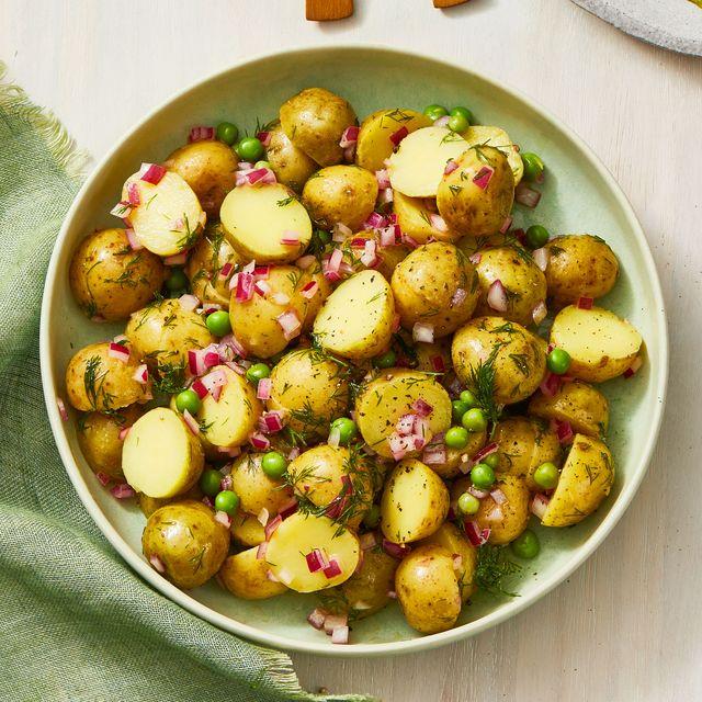 Potato Salad With Dijon Mustard And White Wine Vinegar