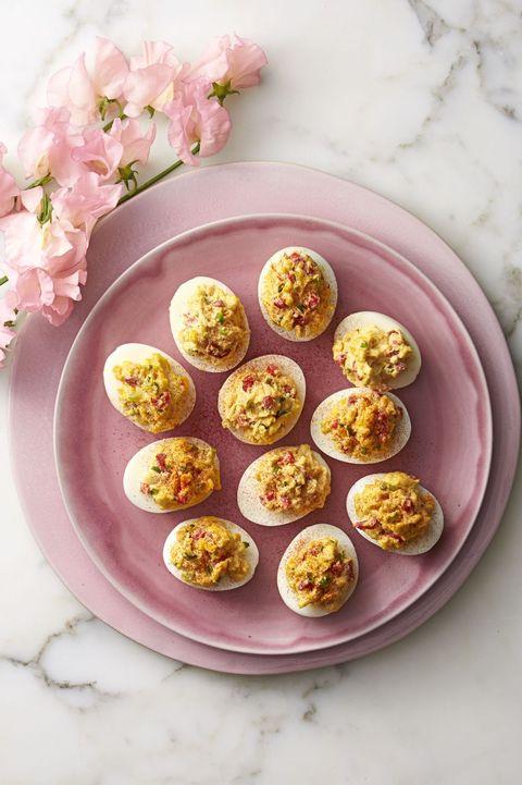 potluck dishes - pimiento-cheese deviled eggs