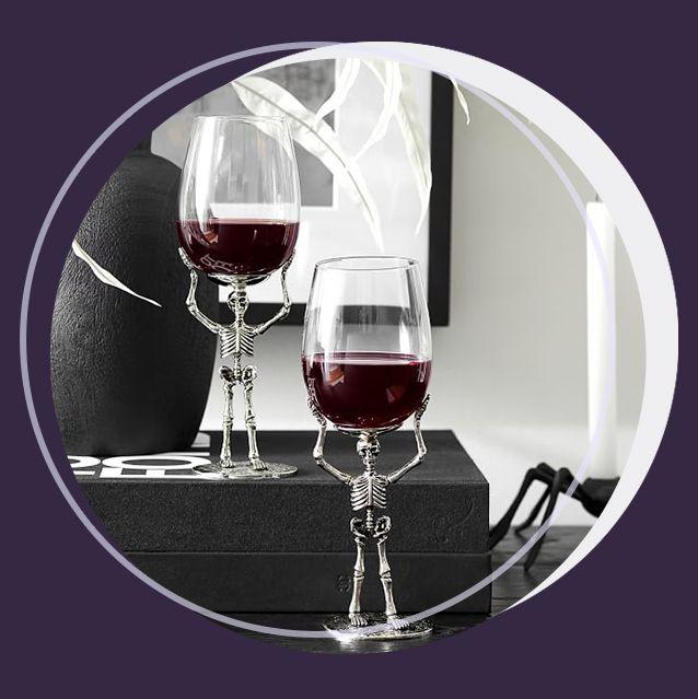 skeleton wine glasses