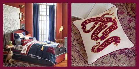 pottery barn 39 s 2018 harry potter collection is here. Black Bedroom Furniture Sets. Home Design Ideas
