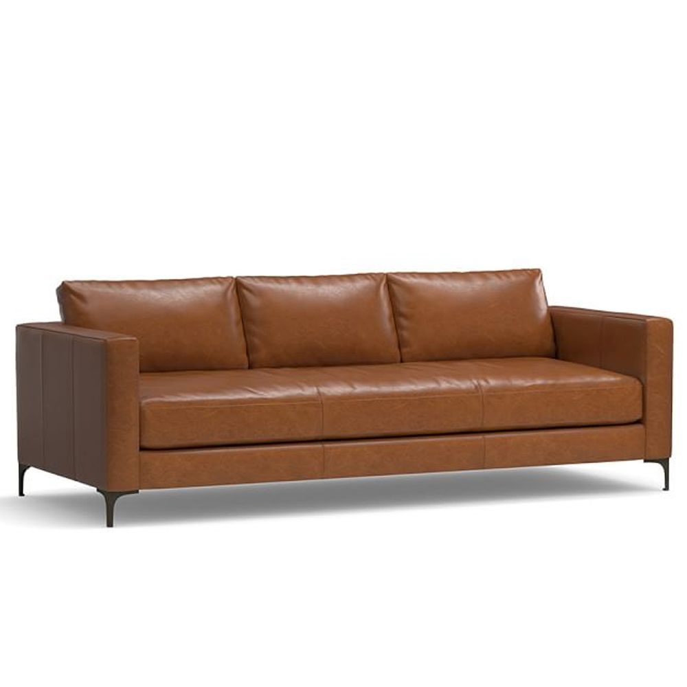 pottery barn Jake Leather Sofa