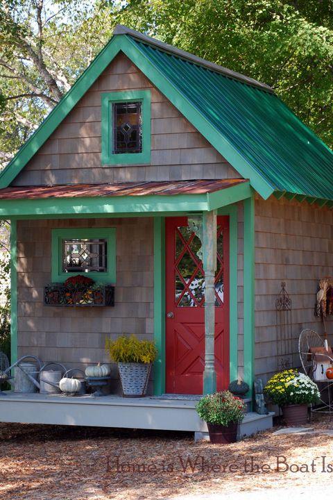 19 Whimsical Garden Shed Designs Storage Shed Plans &