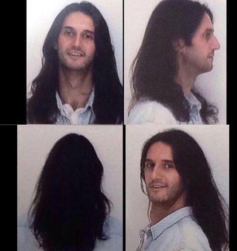 Hair, Face, Hairstyle, Forehead, Head, Chin, Eyebrow, Nose, Long hair, Black hair,