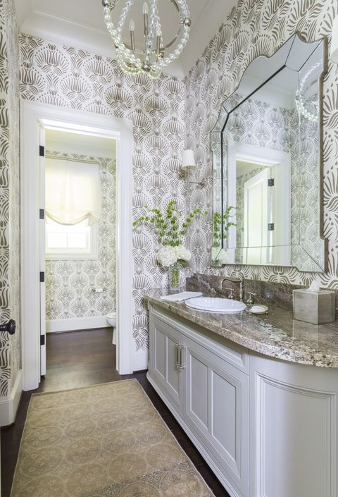 40 stunning powder room ideas half bath decor design - Tiny powder room ideas ...