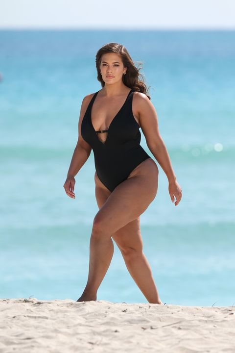 42b07acbc Ashley Graham Shows Off Her Beach Body in Unretouched Swimsuit Campaign