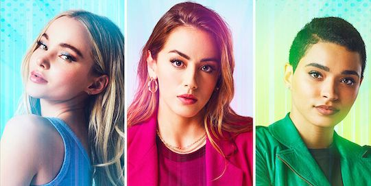 powerpuff — image number ppffirstlookjpg    pictured l r dove cameron as bubbles, chloe bennet as blossom and yana perrault as buttercup    photo james acombthe cw    © 2021 the cw network, llc all rights reserved