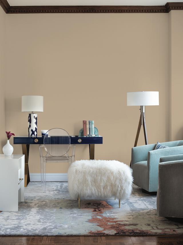 room painted in warm brown