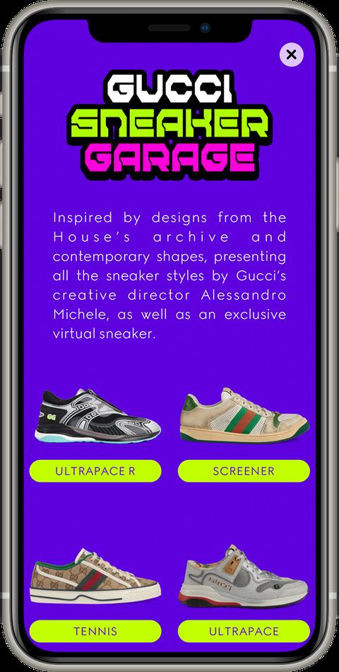gucci app功能升級!全新sneaker garage上線