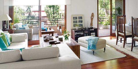 Wood, Room, Interior design, Green, Floor, Living room, Home, Flooring, Furniture, Wall,