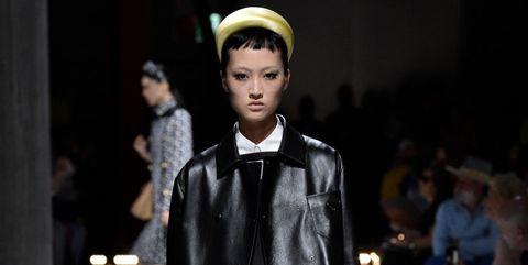 Fashion model, Fashion, Fashion show, Runway, Clothing, Street fashion, Knee, Joint, Footwear, Outerwear,