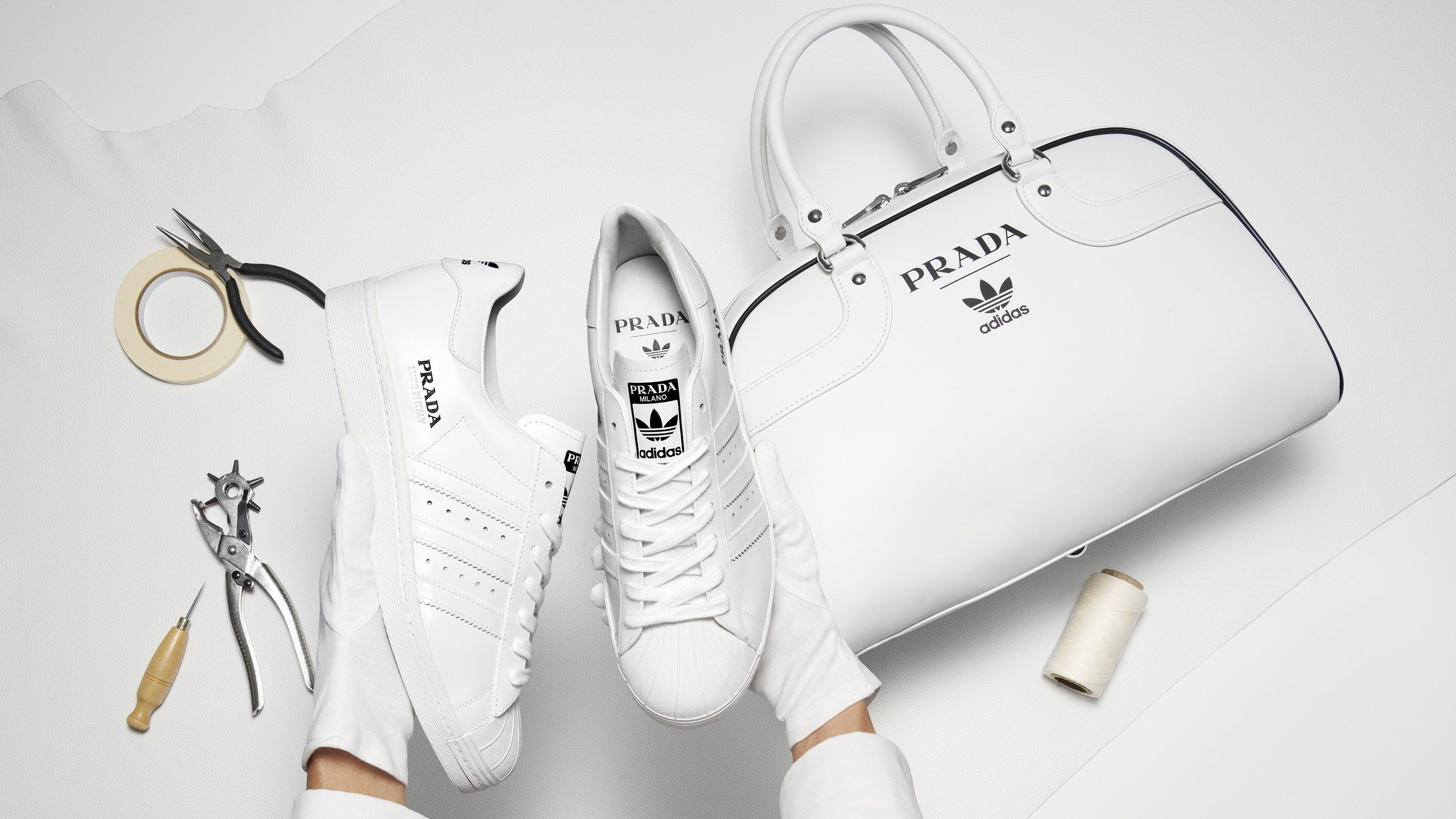 Bag and Prada and Adidas Superstar Sneaker Bowling Unveil mfyIY7gb6v