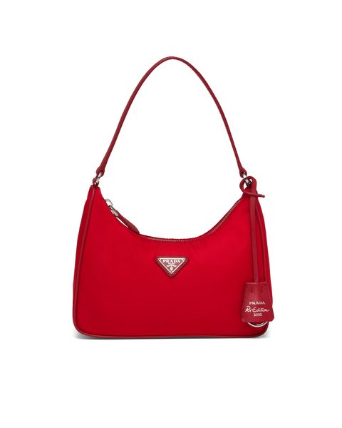 Handbag, Bag, Shoulder bag, Hobo bag, Red, Fashion accessory, Leather, Material property, Font, Coquelicot,