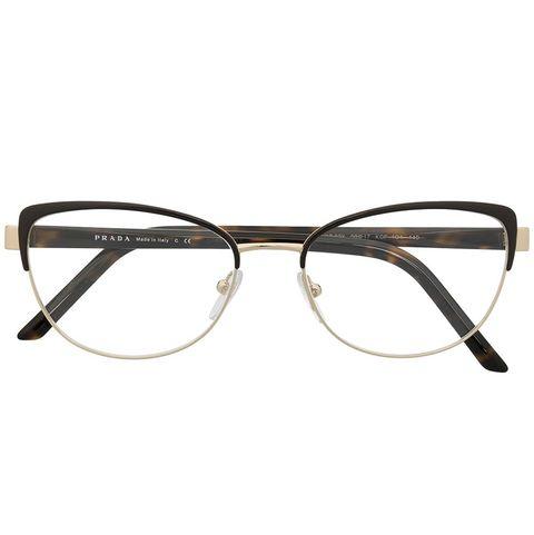 prada復古貓眼眼鏡