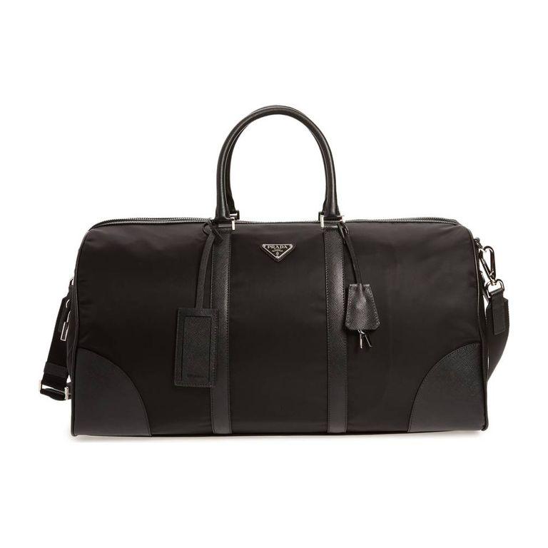 Prada Nylon Saffiano Bowling Bag