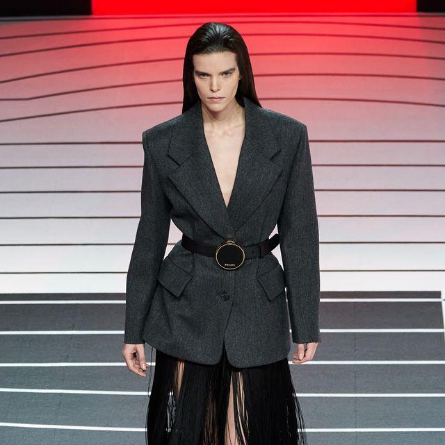 Fashion, Clothing, Fashion model, Runway, Fashion show, Suit, Outerwear, Haute couture, Footwear, Blazer,