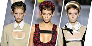 Prada catwalk - headbands