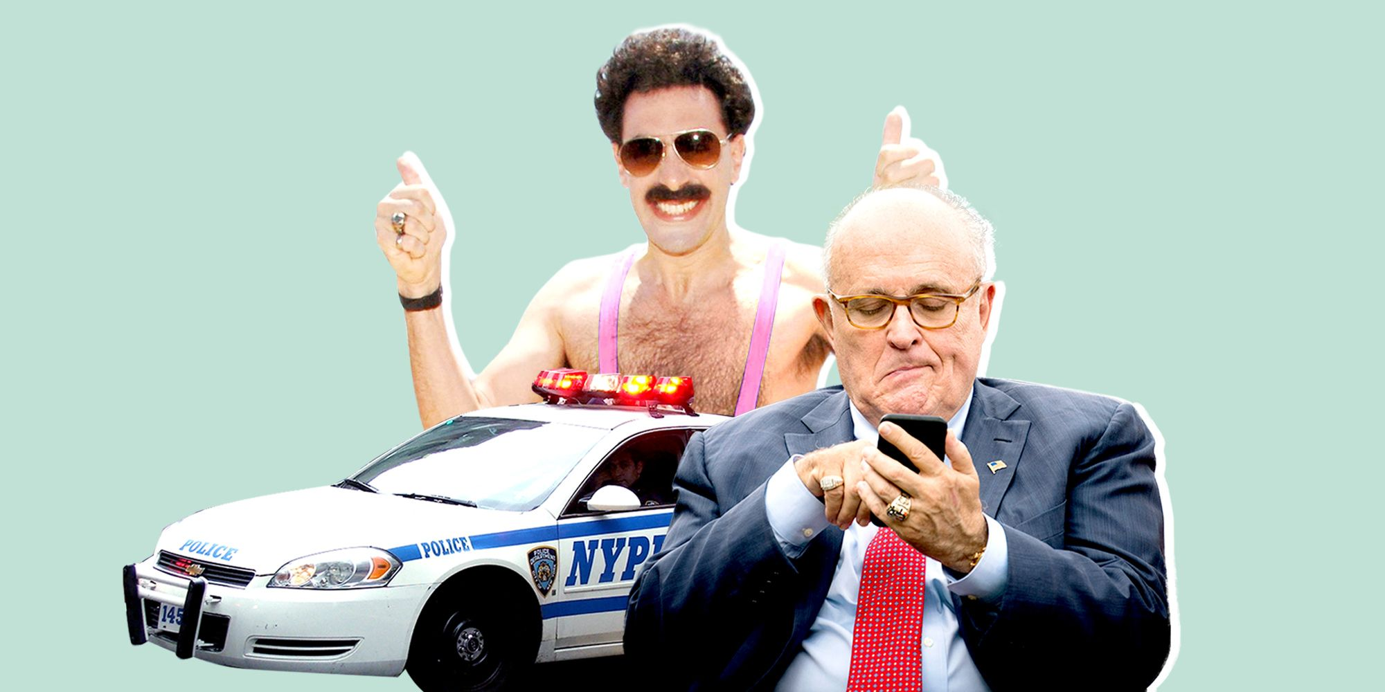 Sacha Baron Cohen Says He Was 'Quite Concerned' For His Co-Star During the Rudy Giuliani Scene in Borat