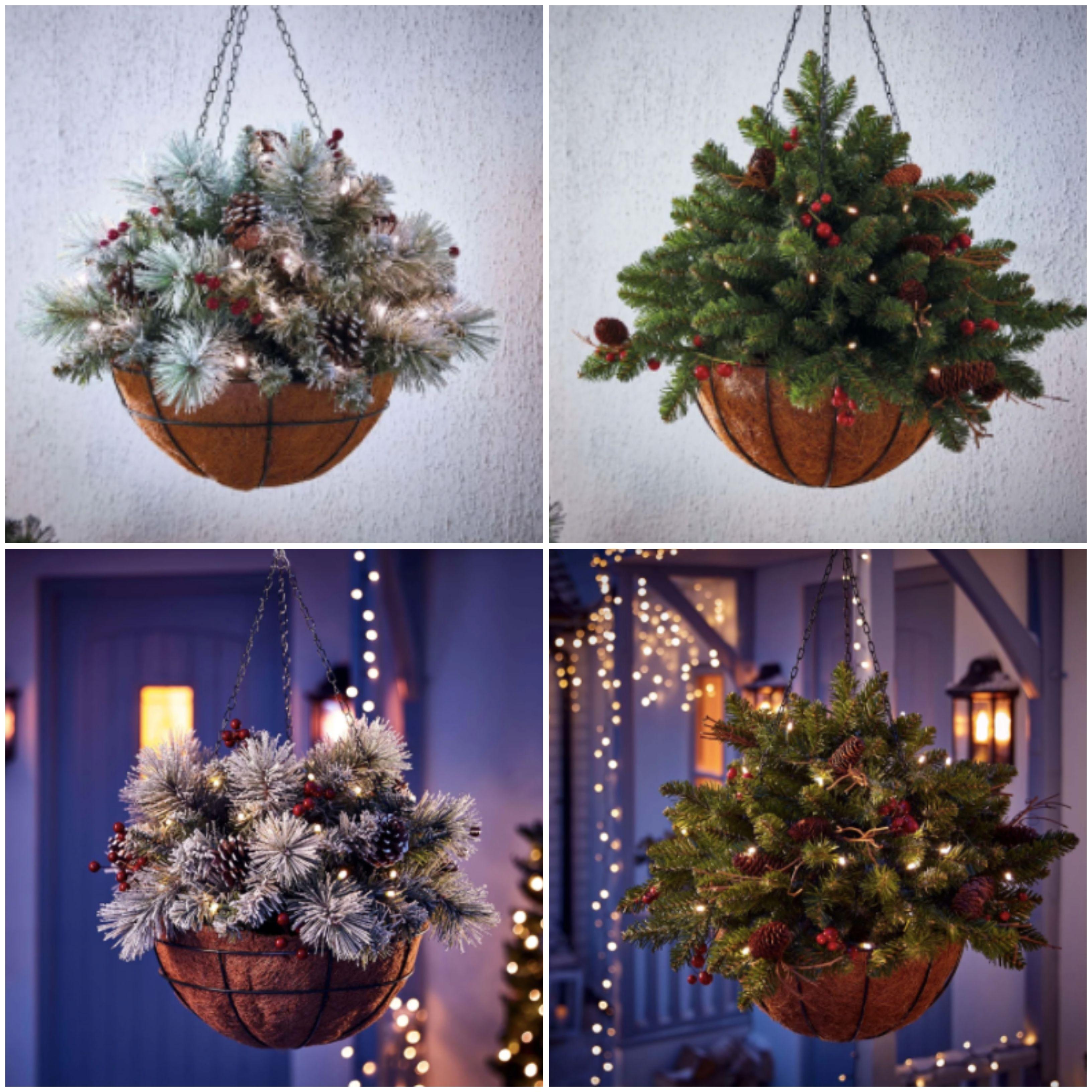Selling Pre Lit Christmas Hanging Baskets