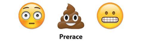 surprised emoji, poop emoji, anxious emoji