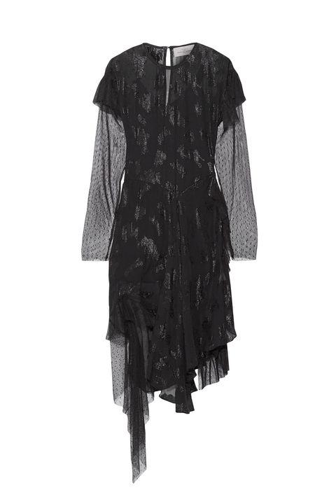 Clothing, Black, Dress, Sleeve, Day dress, Outerwear, Cocktail dress, Robe, Costume, Little black dress,