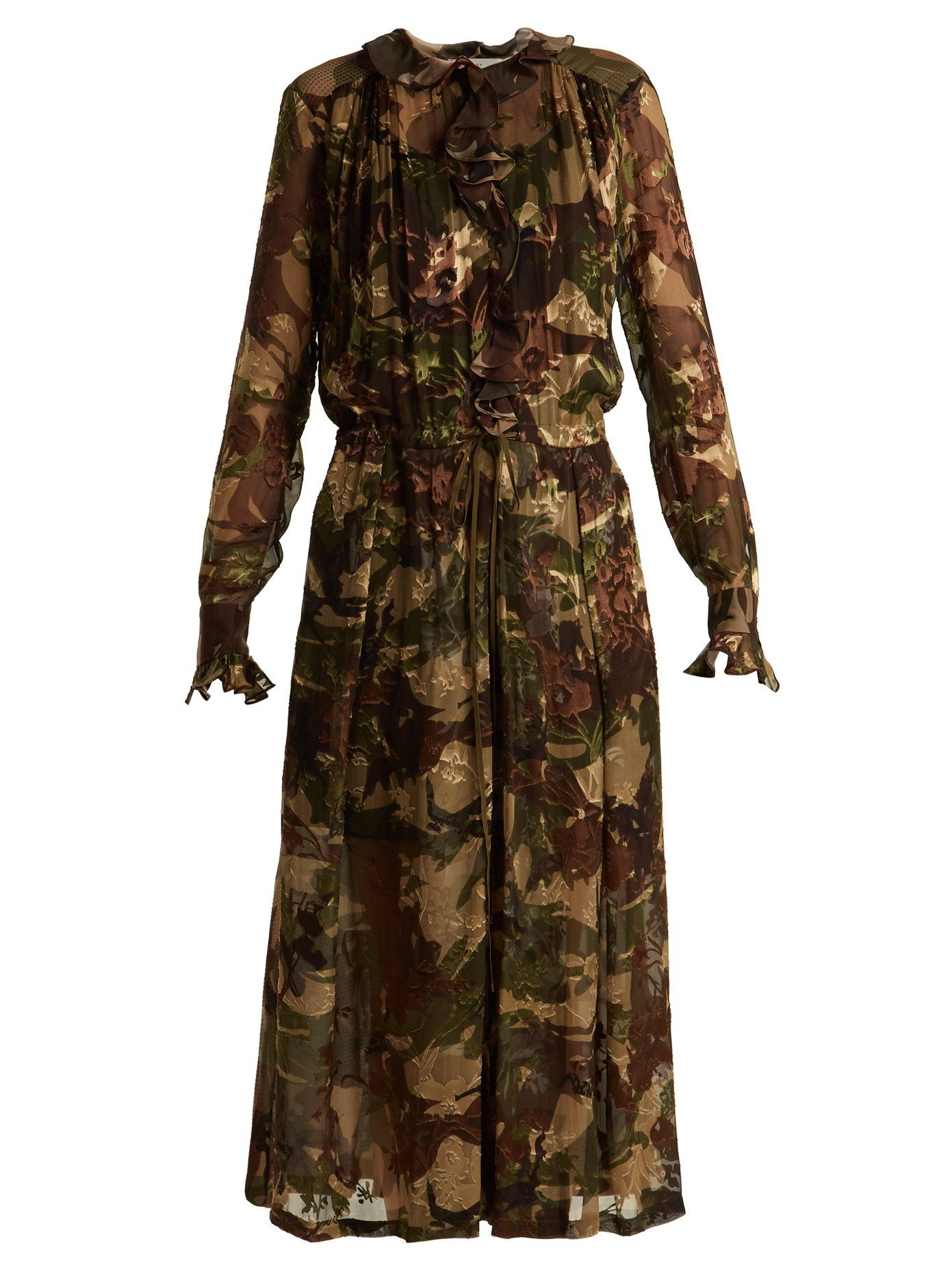 Preen camouflage dress