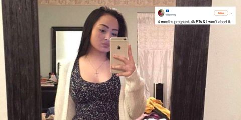 Woman threatened to 'abort' her baby if pregnancy announcement didn't get 4k retweets