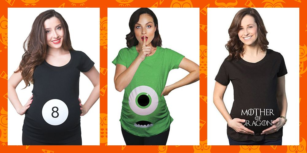 Maternity Clothes Let Me Out Funny Cute Mom Scary Halloween Pregnancy T-Shirt