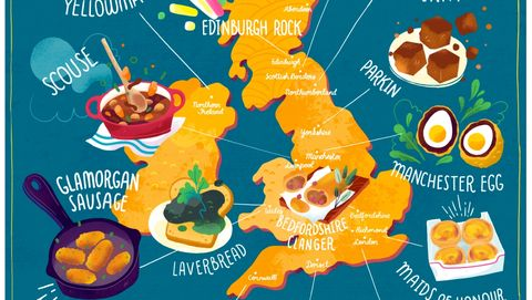 Fun Map Reveals Ultimate Regional Foodie Tour Of The Uk