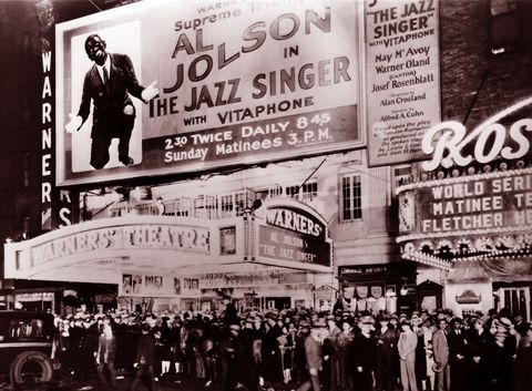 premiere of the jazz singer