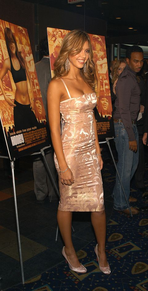 new york   november 24  us tabs and hollywood reporter out  jessica alba attends the premiere of honey november 24, 2003 at the chelsea west theater in new york city  photo by gregorio binuyagetty images