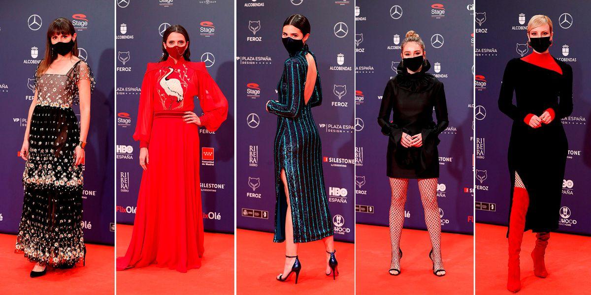 Premios Feroz 2021: la alfombra roja y los mejores vestidos de la gala más atípica de estos galardones