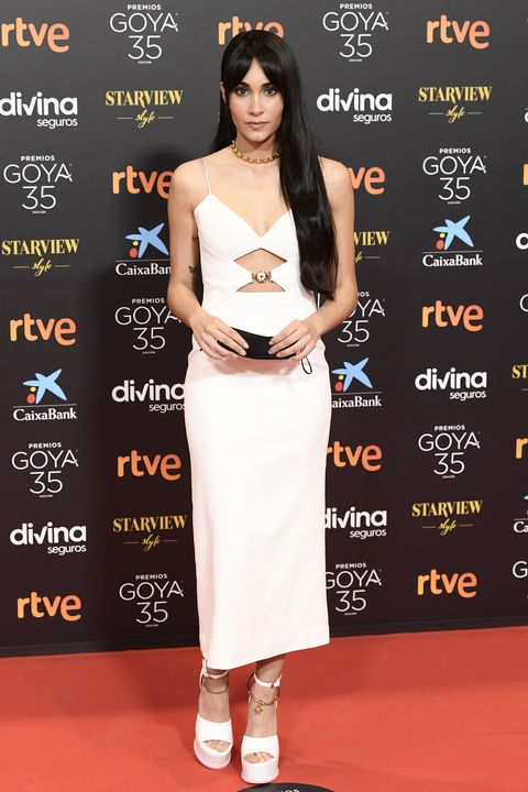 malaga, spain   march 06 aitana attends goya cinema awards 2021 red carpet at gran hotel miramar on march 06, 2021 in malaga, spain photo by carlos alvarezgetty images