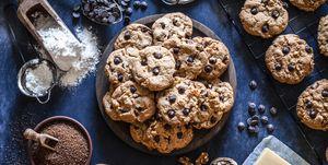 Preparing chocolate chip cookies