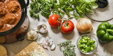 Preparing Dinner with Fresh Foods