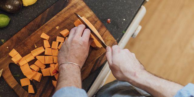 preparing sweet potato