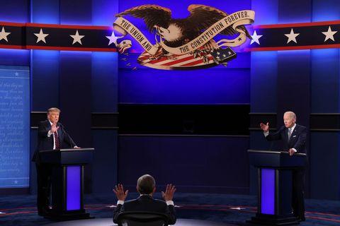 Дональд Трамп и Джо Байден участвуют в первых президентских дебатах
