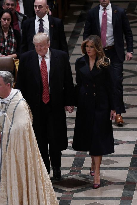 c1016089b30 President Trump And First Lady Melania Attend Christmas Eve Services At The  National Cathedral