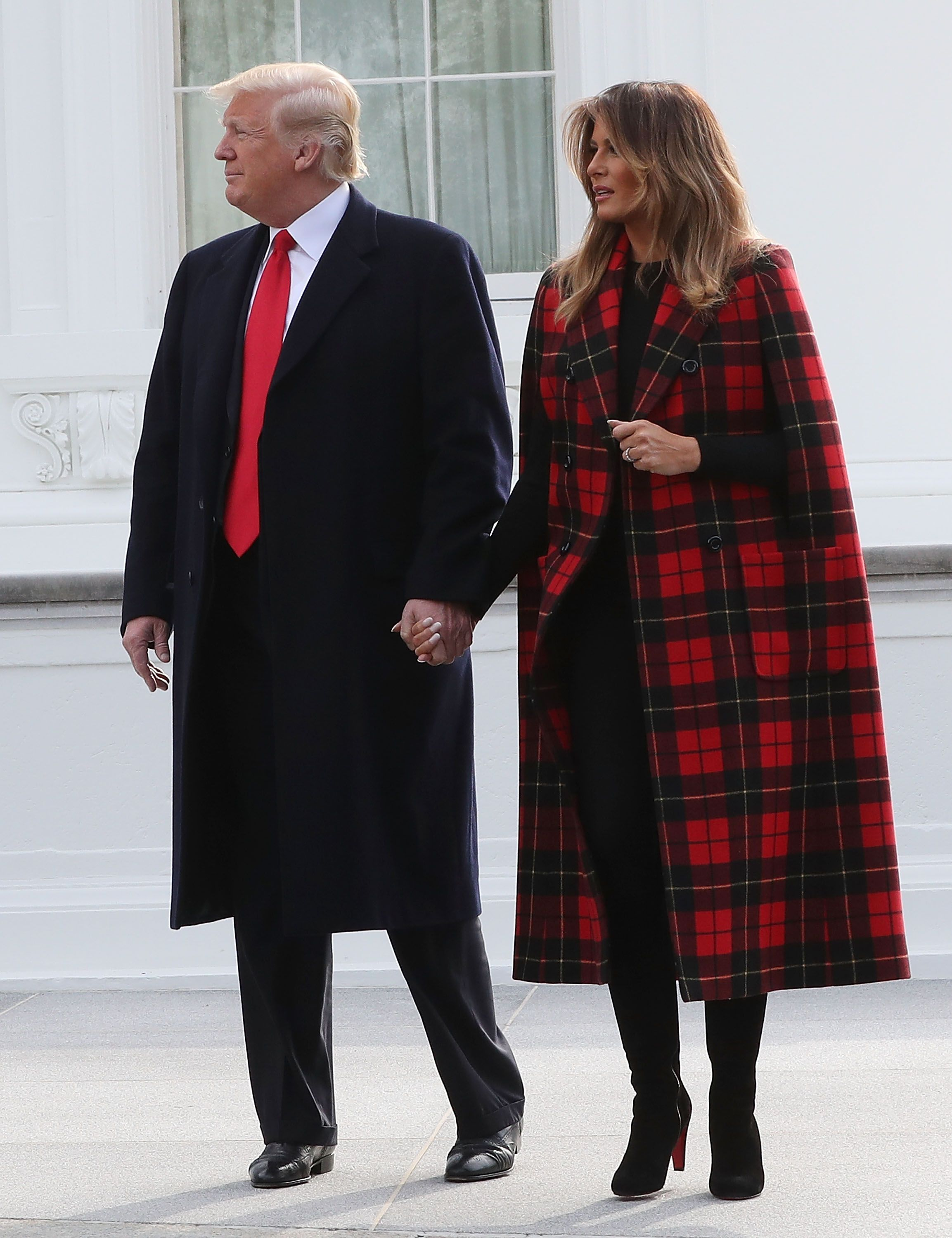 President And Mrs Trump Receive White House Christmas Tree