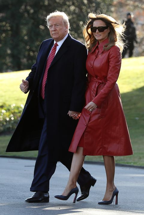 President And Mrs Trump Depart White House For Palm Beach, FL