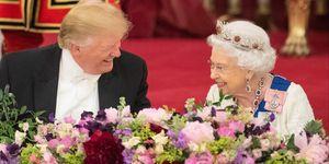 トランプ大統領とエリザベス女王