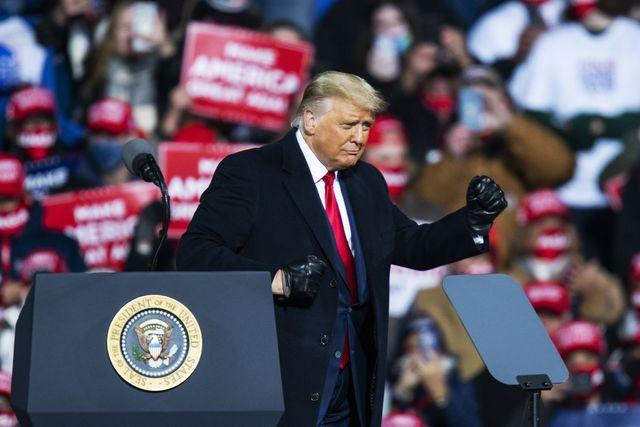 president donald trump holds rally in montoursville, pennsylvania