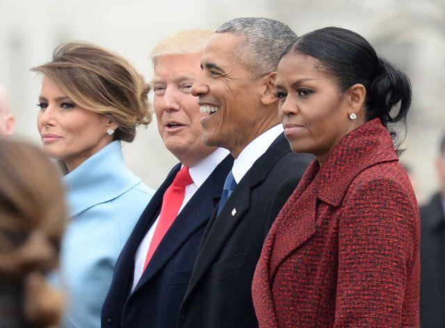 michelle obama at donald trump's inauguration
